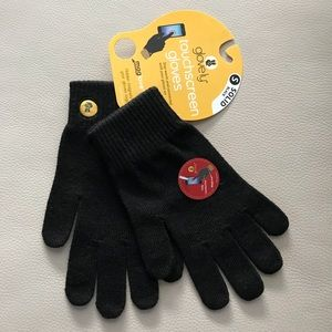 Glove.ly Classic Touchscreen Blk Gloves.  Size S.
